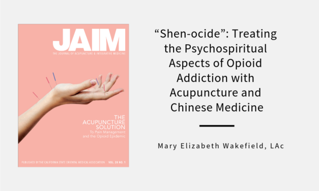 """Shen-ocide"": Treating the Psychospiritual Aspects of Opioid Addiction 