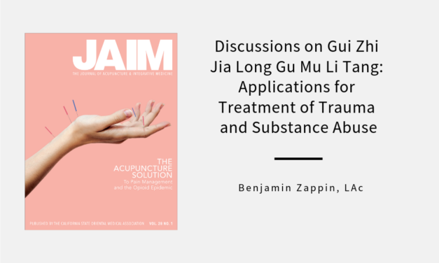 Discussions on Gui Zhi Jia Long Gu Mu Li Tang: Applications for 
