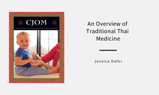 An Overview of Traditional Thai Medicine