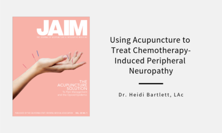 Using Acupuncture to Treat Chemotherapy-Induced Peripheral Neuropathy